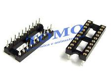 Zoccolo DIP20 tornito THT 20 pin code GOLD-20P