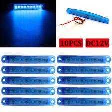 10Pcs Blue 9 LED Side Marker Indicator Lights Lamps Truck Trailer Lorry Bus 12V