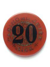 Ancien Jeton token Backélite rouge de 20 francs Casino de la Jetée Nice (A.M.)