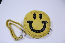 Circus by Sam Edelman Halley Ring Handle Clutch Yellow with Smiley Face