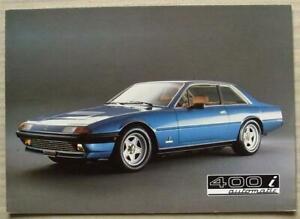 FERRARI 400i AUTOMATIC Car Sales Brochure 1983 #N.246/82