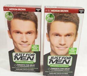 JUST FOR MEN Original Formula Hair Color Medium Brown H-35 kit / 2-Packs