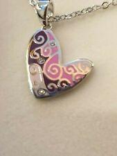 Equilibrium  Enamel Heart Necklace free p&p