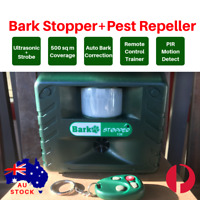 2-in-1 AUTOMATIC+REMOTE ULTRASONIC BARK STOPPER 136 PEST PIGEON BAT REPELLENT