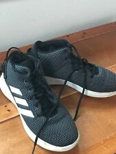 Adidas Black & Gray with White Stripes Accents Men's High Top Basketball Size 8