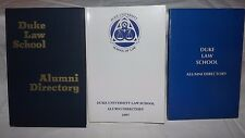 (Group of 3) DUKE LAW SCHOOL ALUMNI DIRECTORIES (1868-1972, 1977, 1987)