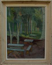 Gunnar Jonn 1904-1963, Rastplatz unter Bäumen, datiert 1943