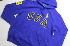 Ralph Lauren Polo USA Men Big Pony Royal Blue  Jacket Hoodie Sweater L Large