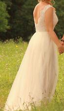 Brautkleid ca. Größe 38, Elfenbein, Spitze, Tüll