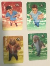 1998 Hasbro Animorphs The Invasion Game Morphing Card Jake Rachel Marco Lot of 4