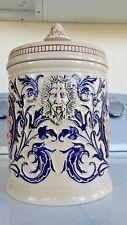 Greek Mythology ANTIQUE Porcelain APOTHECARY JAR - Tea Caddie Canister URN VASE