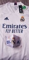 Real Madrid Home Jersey 20/21 (Free Mask Included) Size LARGE