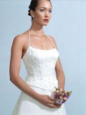 Couture Casablanca A-Line White Lavendar Accents Bridal Gown Wedding Dress 10
