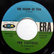 THE CASTELLS 45 Vision Of You / Stiki De Boom Boom VG++ Doo Wop ERA 1961 e6494
