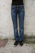 TJ TRUSSARDI LADIES Blue Denim Stretch Jeans 80s Quality Faded Straight W28 Uk10