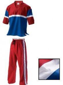 Demo Team Freestyle Uniform Rot Kampfsport Anzug Gi Erwachsene Kinder