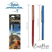 Fisher Stowaway Space Pen - Mini Pen with Clip - Black, Red or Blue- FOR DIARIES