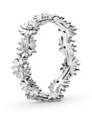 Genuine Pandora Sparkling Silver 925 S Daisy Flower Crown Ring # 198799C01 - UK