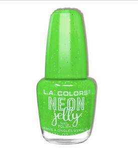 L.A. Colors Neon Jelly Nail Polish Electric Lime Green