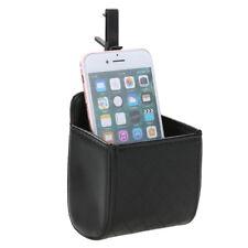 Car Auto Outlet Dust Bin Trash Box Mobile Phone Holder PU Leather Storag Bucket
