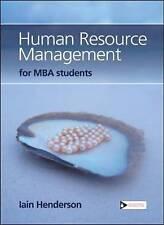 Gestione delle risorse umane per gli studenti MBA da Iain Henderson (libro in brossura, 2008)