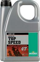 Motorex Top Speed 4T 15W-50 4 Liter 102304 4 liters 98-0042 3601-0013 580-0231
