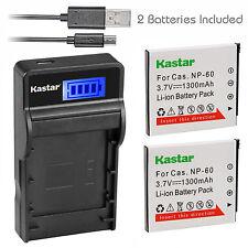 Kastar NP-60 for Casio Exilim Zoom EX-Z19SR EX-Z20 EX-Z85VP EX-Z85 EX-Z85BE