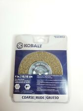 "Kobalt Wire Wheel Brush #0323653 4"" (10.16cm) COARSE 1/4"" Shank"