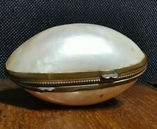 Antique Mother of Pearl 19th Shell Egg Snuff Box