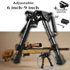 "6"" to 9"" Adjustable Spring Return Hunting Rifle Bipod + Picatinny Rail Mount Us"