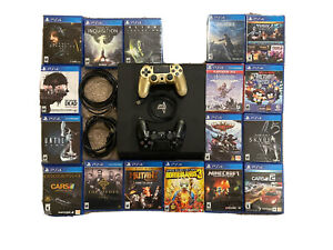 Sony PlayStation 4 PS4 Pro 1TB - Console Bundle w/ 2 Controllers and 17 Games