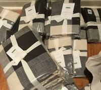 Pottery Barn Bryce Duvet Cover Set Charcoal King 2 King Shams Buffalo Check New