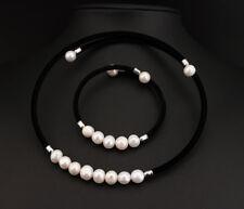 Conjunto Collar y Pulsera con perlas autenticas cultivadas regalo mujeres