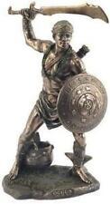 More details for bronze effect orisha god warrior oggun statue africa style sculpture santeria