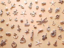 Maritimes Schmuck Bastelset FERNWEH ♥ Anhänger Perlen Verbinder * 50 Teile