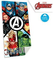 Marvel Avengers Beach Bath Towel 70 x 140 cm 100% COTTON Iron Man Cap Thor Hulk