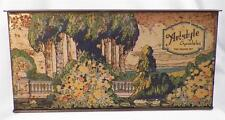 Artstyle Chocolates Candy Box Tin Lithograph Vintage European Village AS IS