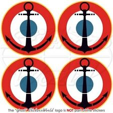 """FRANCE French Naval Aviation Roundels 2"""" Stickers x4"""