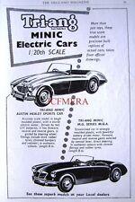 1958 Tri-ang Minic Electric Cars ADVERT MGA & Austin-Healey Sports - Print AD