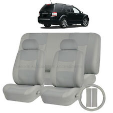 PU LEATHER SOLID GRAY SEAT COVERS 11PC SET for FORD EDGE FUSION