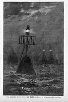 LIGHTED BUOY NEW YORK HARBOR BUOY 1881 ARCHIVES OF HISTORY NAUTICAL SHIPS