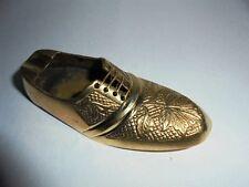 11cms Vintage Brass Handmade Decorative Shoe Ashtray Christmas Home Decor Gift