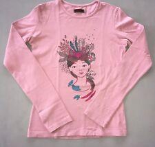 CATIMINI Tee-shirt ML Rose Indienne 14 Ans TBE