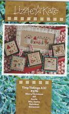 Lizzie Kate Christmas Tiny Tidings XXI 5 Cross Stitch Kits + Buttons & Charms