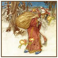 Arthur Rackham's Father Christmas Santa Claus 761 Counted Cross Stitch Pattern