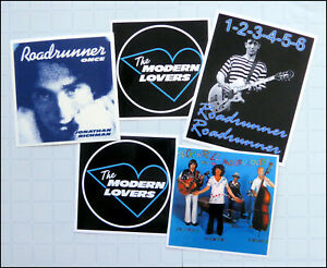 Jonathan Richman, MODERN LOVERS, Set of FIVE Glossy Vinyl Promo Stickers