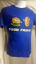Food Fight Hamburger vs Hot Dog T-Shirt Size Small (S) Excellent Used Condition