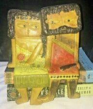Marcello Fantoni Ceramic Shelf Hanger Two Figurines