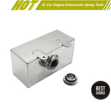 2L Aluminium Polished Windscreen Washer Intercooler Water Spray Bottle Tank Pot&