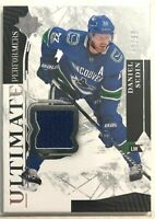 2017-18 Daniel Sedin Ultimate Collection Ultimate Performers Jersey #UP-DS #/99
